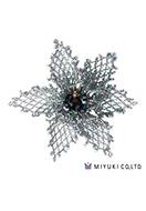 www.snowfall-beads.be - Miyuki sieradenpakket broche BFK-103 Grace Brooch - E00420