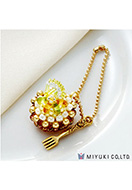 www.snowfall-beads.be - Miyuki sieradenpakket bedel taartje Sweets Charm No. 21 Fresh Lemon Tart - E00426
