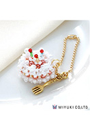 www.snowfall-beads.be - Miyuki sieradenpakket bedel taartje Sweets Charm No. 24 Birthday Cake - E00429
