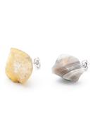 www.snowfall-beads.be - Natuursteen oorstekers Agate 19-30x10-20mm - J07297